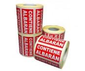 Etiqueta autoadhesiva contiene albaran