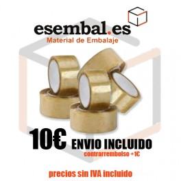 Pack 6 x Cinta Adhesiva Extra Acrílico 48mmx132m transparente